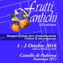 Frutti Antichi Autunno – 1, 2 ottobre 2016 – Paderna